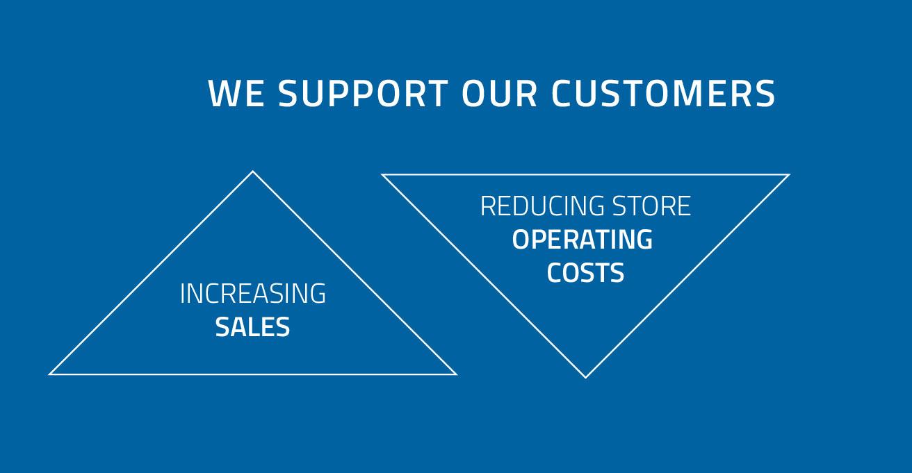 Apoiamos os nossos clientes